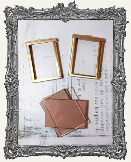 Coffee Break Design Large Brass Flip Frame Acrylic Kit - SET OF TWO