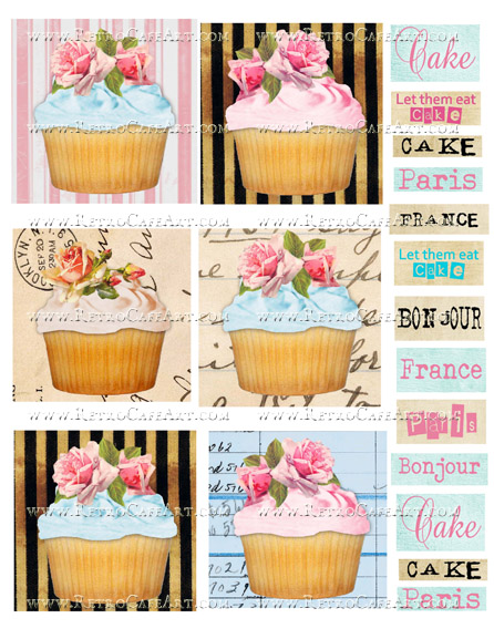 Cupcake Collage Sheet by Cassandra VanCuren - CV11