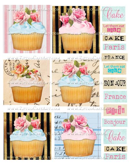 Cupcake Collage Sheet by Cassandra VanCuren - CV11