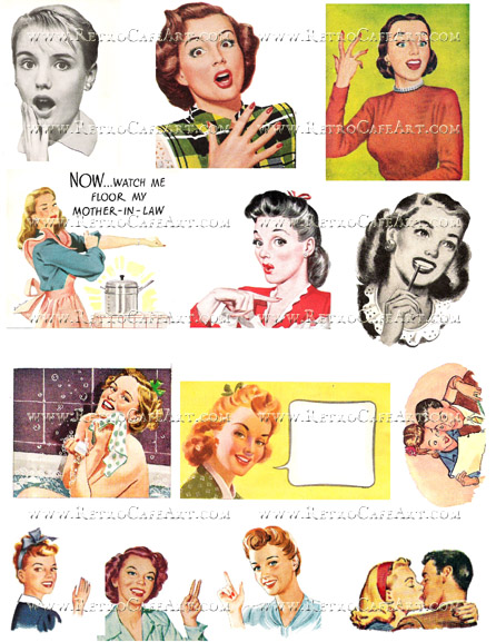 Retro I Collage Sheet by Cassandra VanCuren - CV118