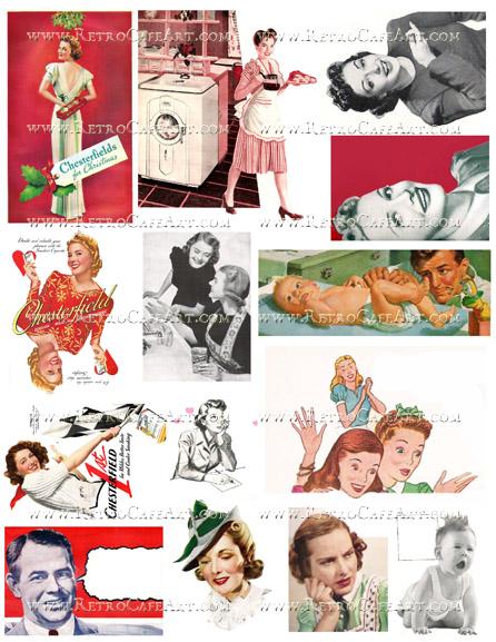Retro II Collage Sheet by Cassandra VanCuren - CV119