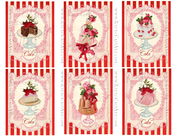 Cake Tags Collage Sheet by Cassandra VanCuren - CV12