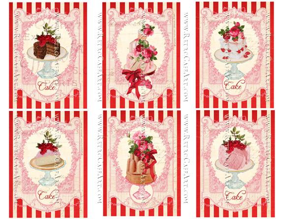 Cake Tags Collage Sheet by Cassandra VanCuren - CV12