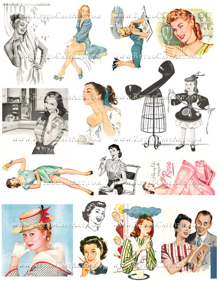 Retro III Collage Sheet by Cassandra VanCuren - CV120