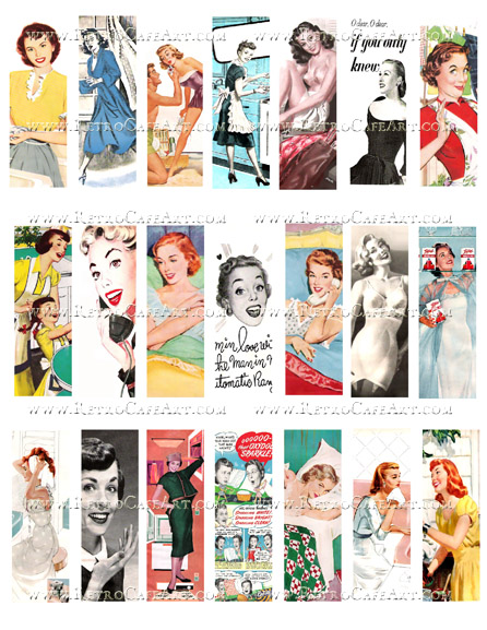 Retro Slides Collage Sheet by Cassandra VanCuren - CV122