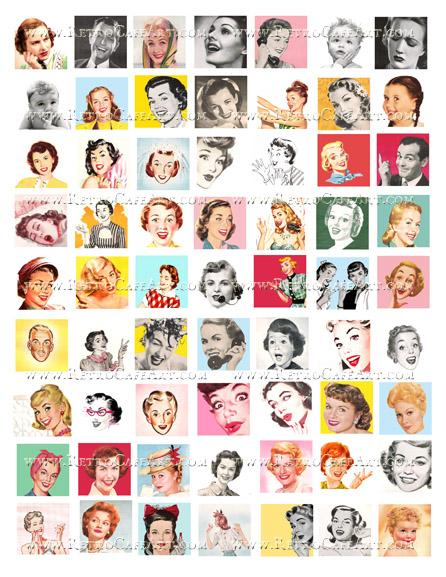 Retro Inchies Collage Sheet by Cassandra VanCuren - CV123