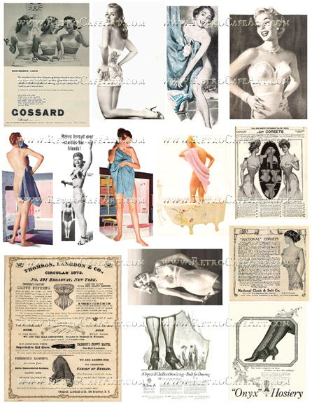 Retro Ladies Collage Sheet by Cassandra VanCuren - CV124