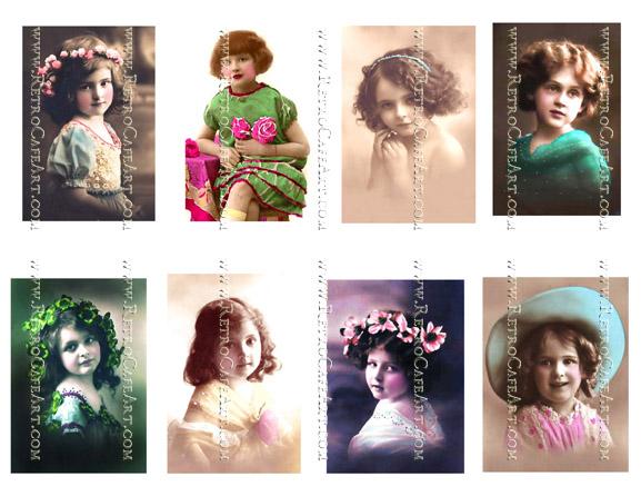 Vintage Cuties Collage Sheet by Cassandra VanCuren - CV125