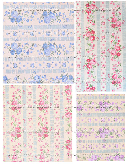Vintage Wallpaper Collage Sheet by Cassandra VanCuren - CV18