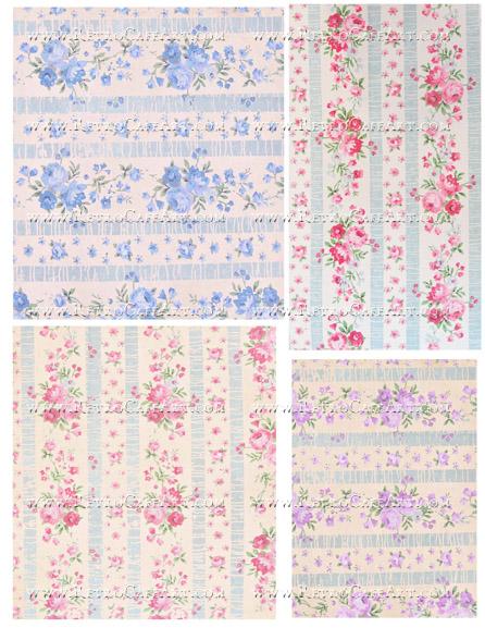 Vintage Wallpaper Collage Sheet by Cassandra VanCuren - CV18