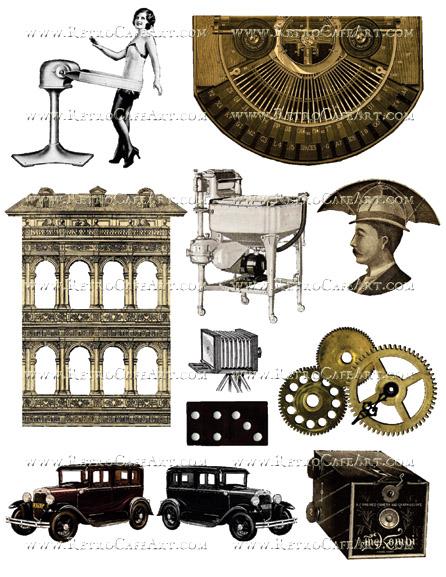Steampunk Collage Sheet by Cassandra VanCuren - CV19
