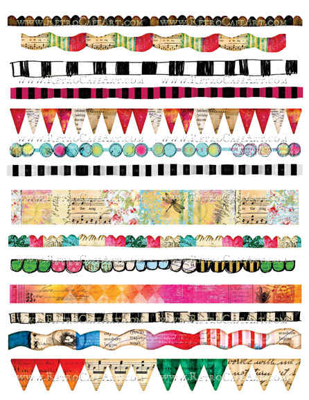 Borders Collage Sheet by Cassandra VanCuren - CV2