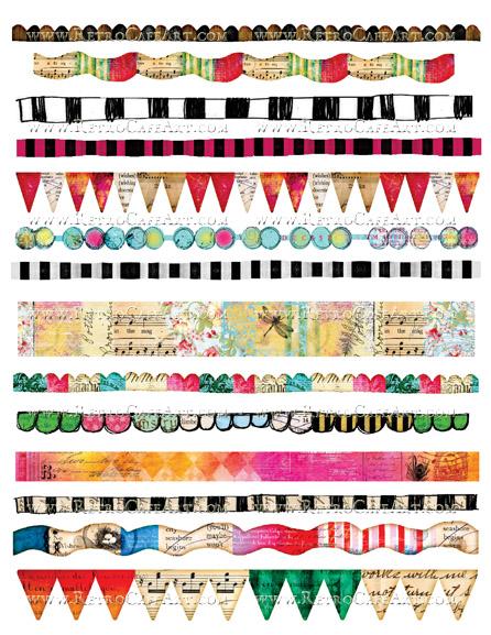 Borders Collage Sheet by Cassandra VanCuren - CV2