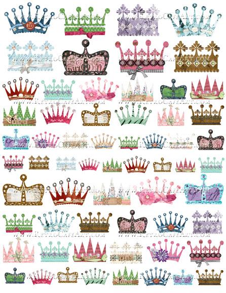 Crowns Collage Sheet by Cassandra VanCuren - CV25