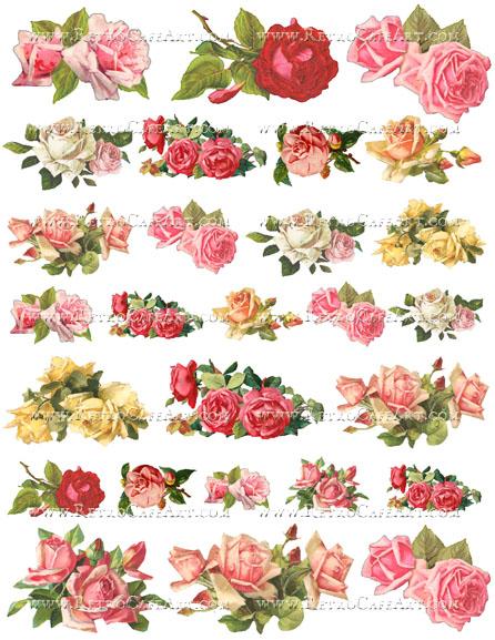 Shabby Roses Collage Sheet by Cassandra VanCuren - CV27