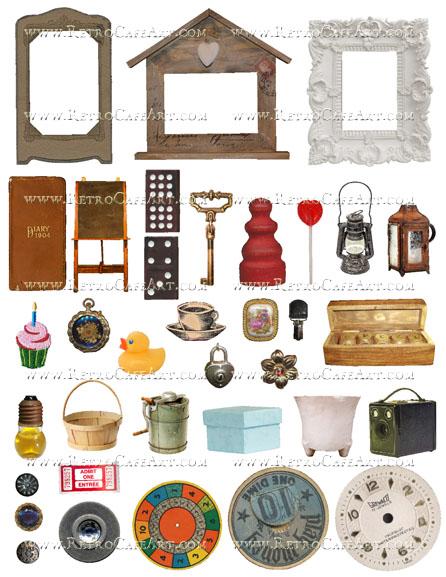 ATC Junk Closet Collage Sheet by Cassandra VanCuren - CV28