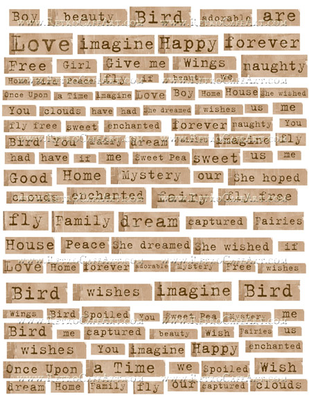 Collage Words Collage Sheet by Cassandra VanCuren - CV3
