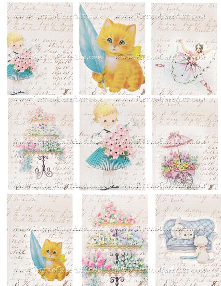 Shabby Ledger ATC Backgrounds Collage Sheet by Cassandra VanCuren - CV37