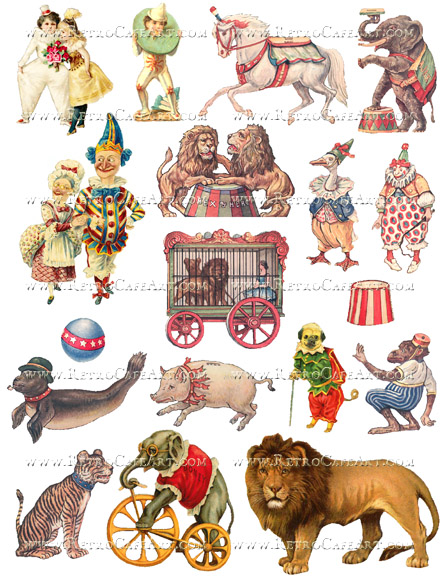 Circus Fun Collage Sheet by Cassandra VanCuren - CV4