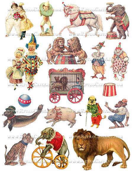 Circus Fun Collage Sheet by Cassandra VanCuren - CV4