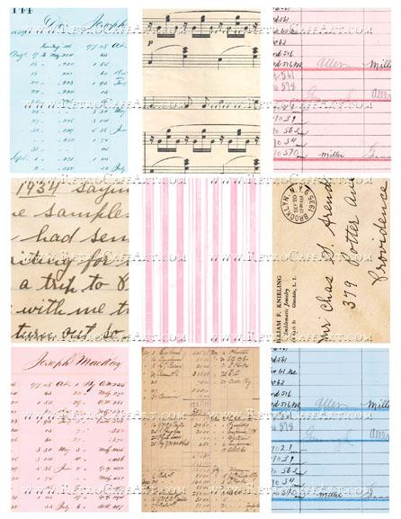 Fairy ATC Backgrounds Collage Sheet by Cassandra VanCuren - CV40