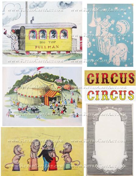 Circus Backgrounds Collage Sheet by Cassandra VanCuren - CV5