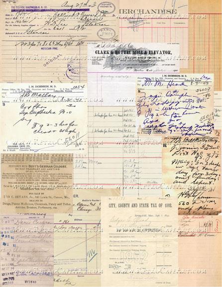 Vintage Paper Collection Background Collage Sheet by Cassandra VanCuren - CV56