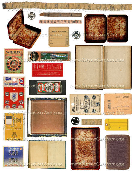 Old and Rusty Collage Sheet by Cassandra VanCuren - CV57