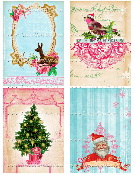 Whimsical Christmas Collage Sheet by Cassandra VanCuren - CV60