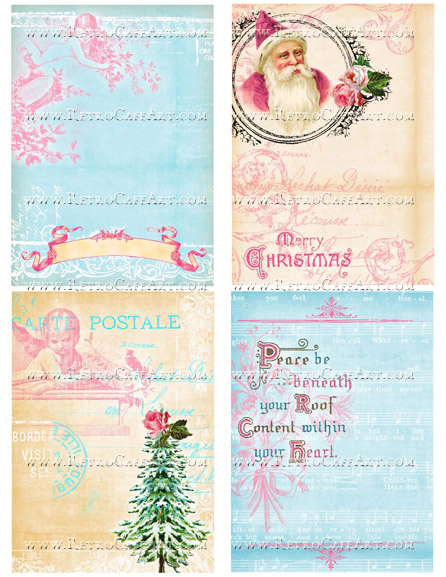 Whimsical Christmas II Collage Sheet by Cassandra VanCuren - CV61