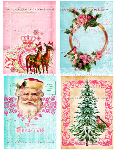 Whimsical Christmas IV Collage Sheet by Cassandra VanCuren - CV63