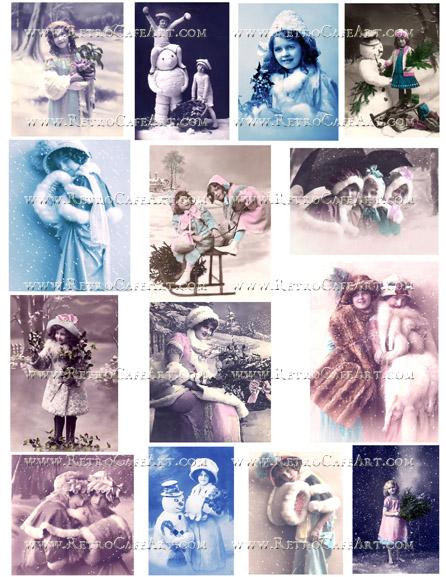 Let It Snow Collage Sheet by Cassandra VanCuren - CV71