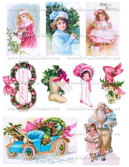 Shabby Christmas Collage Sheet by Cassandra VanCuren - CV74
