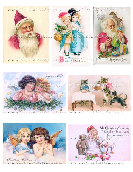 Shabby Christmas II Collage Sheet by Cassandra VanCuren - CV75