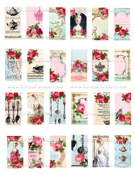 French Domino Collage Sheet by Cassandra VanCuren - CV78