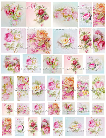 Rose Charms Collage Sheet by Cassandra VanCuren - CV81