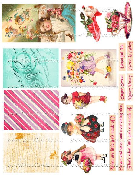 Sugar and Spice Collage Sheet by Cassandra VanCuren - CV89