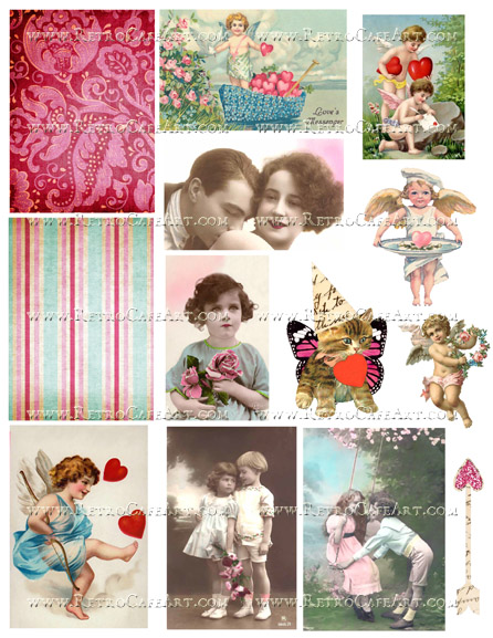 My Valentine I Collage Sheet by Cassandra VanCuren - CV90