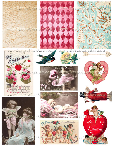 My Valentine Collage Sheet by Cassandra VanCuren - CV91
