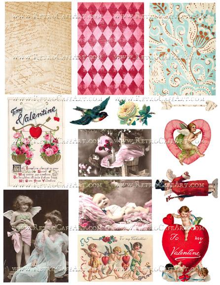 My Valentine Collage Sheet by Cassandra VanCuren - CV91