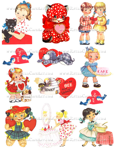 Vintage Valentine Collage Sheet by Cassandra VanCuren - CV92