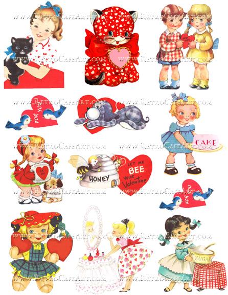 Vintage Valentine Collage Sheet by Cassandra VanCuren - CV92