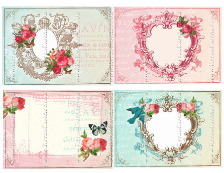 Lovely Large Frames Collage Sheet by Cassandra VanCuren - CV93