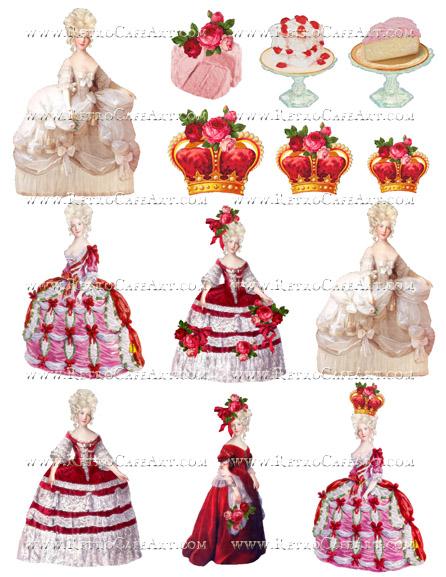 Valentine Marie Antoinette Collage Sheet by Cassandra VanCuren - CV95