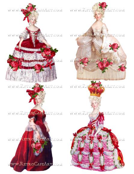 Large Valentine Marie Antoinette Collage Sheet by Cassandra VanCuren - CV96