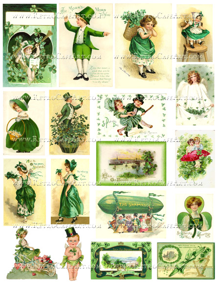 St. Patrick's Day Collage Sheet by Cassandra VanCuren - CV99