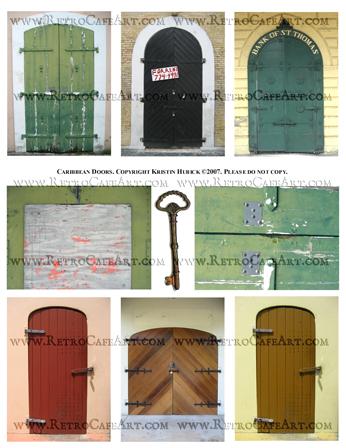Caribbean Doors ATC Backgrounds