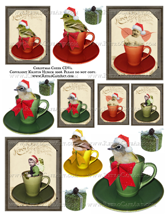 Christmas Cheer CDVs Digital Collage Sheet