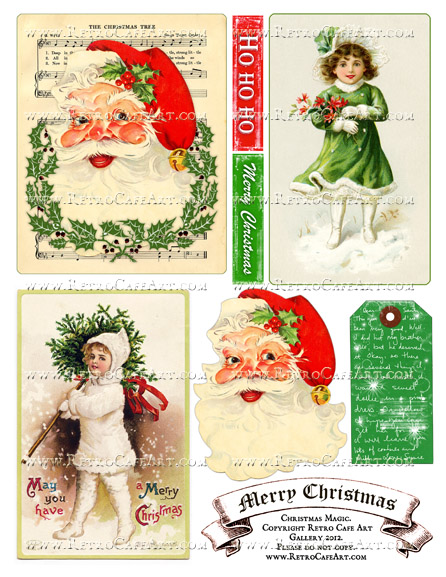 Christmas Magic Collage Sheet