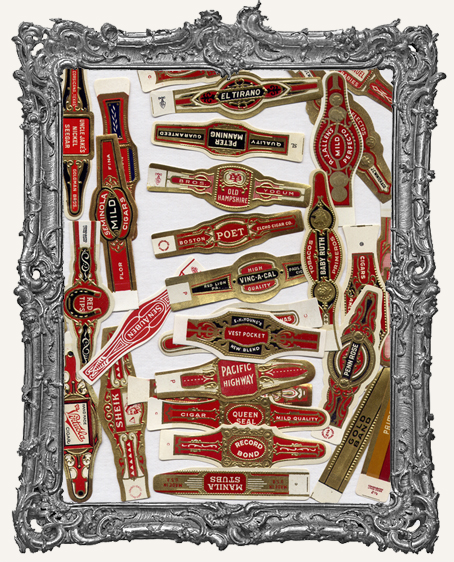 Authentic Vintage Cigar Labels Unused PACK OF 30